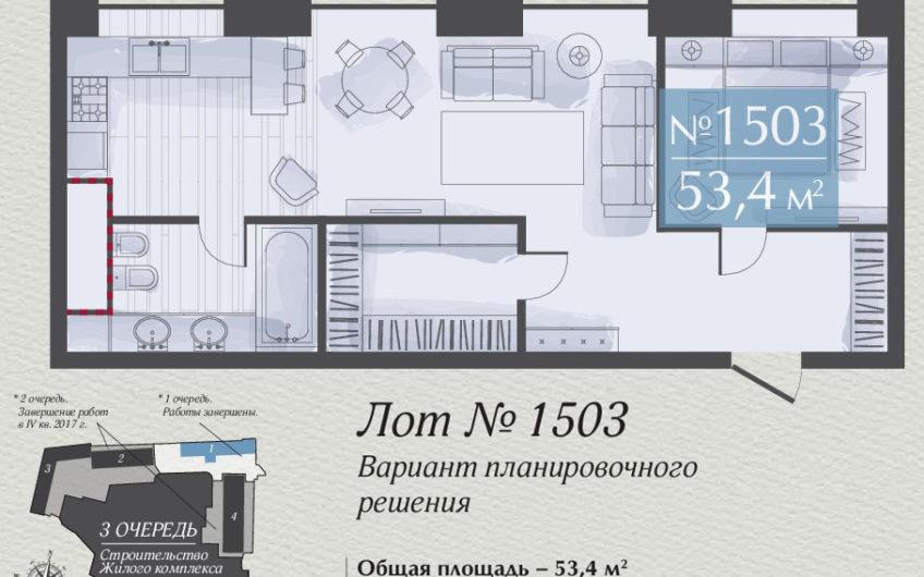 Апартаменты 1503, 2-х комнатная квартира на ул. Викторенко, д.16, стр.1