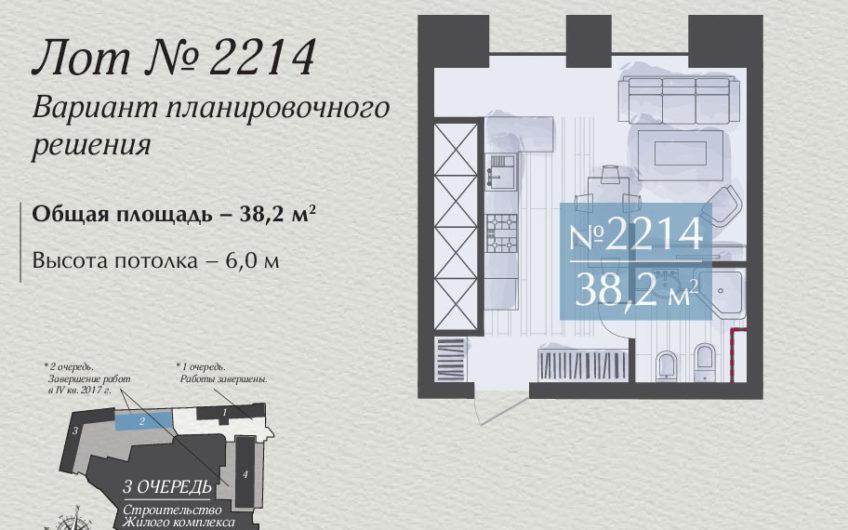Апартаменты 2214, 1-комнатная квартира на ул. Викторенко, д.16, стр.2