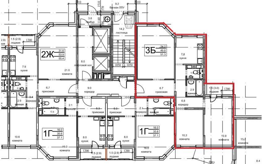 3-х комнатная квартира (№92а) в ЖК Олимпийский, г.Чехов, мкр. Олимпийский, корп.5