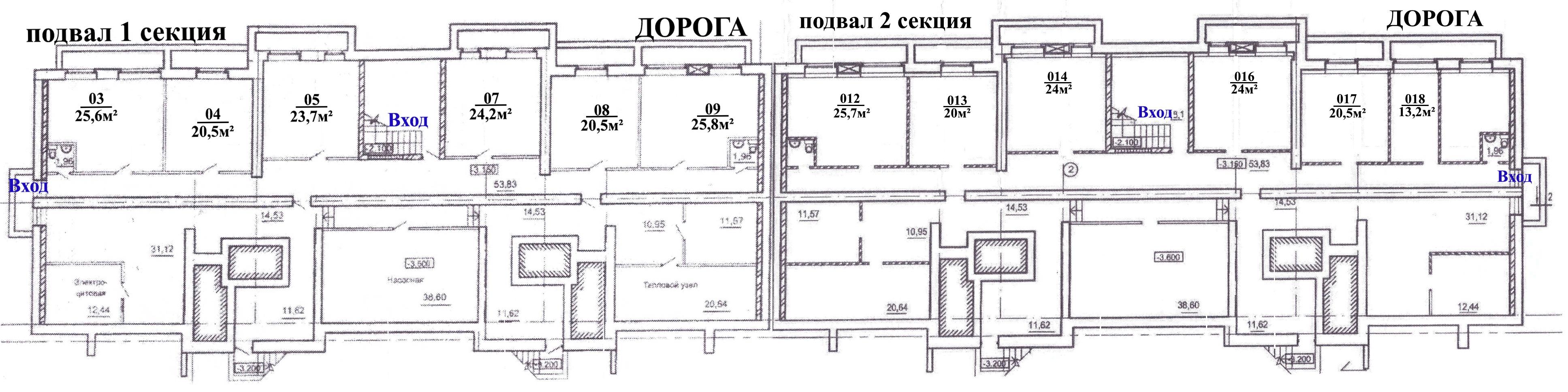План помещения на этаже
