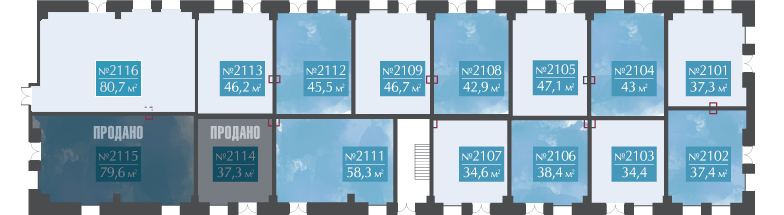 План расположения квартиры на 1 этаже