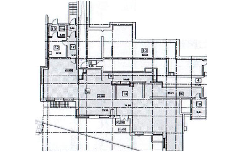 Нежилое помещение №1 (офис 1) 210,33 м2 на цокольном этаже в ЖК Рациональ, Московская область, г. Реутов, ул. Головашкина, дом 3 к.1