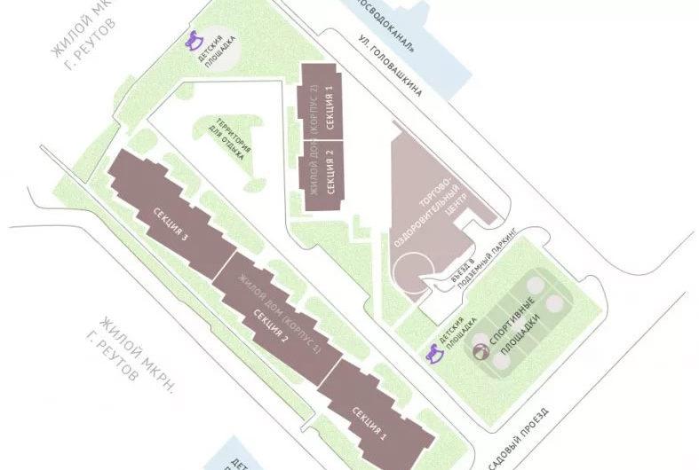 Нежилое помещение №2 (офис 4) 134,11 м2 на цокольном этаже в ЖК Рациональ, Московская область, г. Реутов, ул. Головашкина, дом 3 к.1