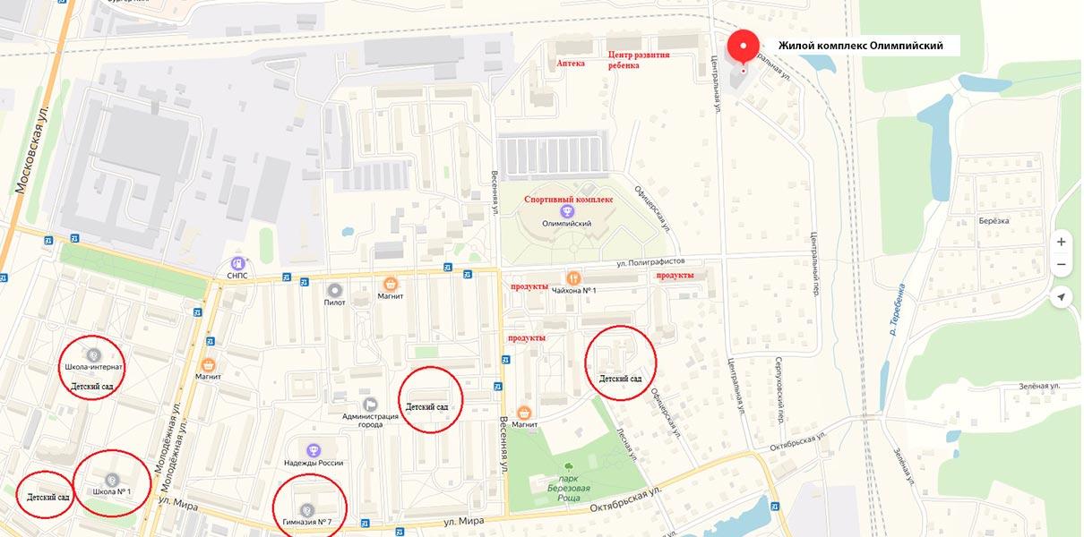 ЖК-Олимпийский-на-Яндекс-карте