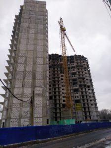 Ход строительства ЖК Олимпийский г.Чехов (Декабрь)