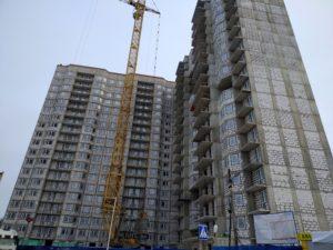 Ход строительства ЖК Олимпийский г.Чехов (Февраль)